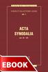 Okladka: ACTA SYNODALIA - OD 50 DO 381 ROKU