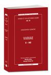 Okladka: Variae (I-XII)
